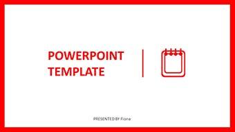 产品推介简约时尚亮眼红色PPT模板