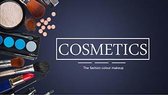 深色时尚彩妆化妆 工作总结汇报PPT模板