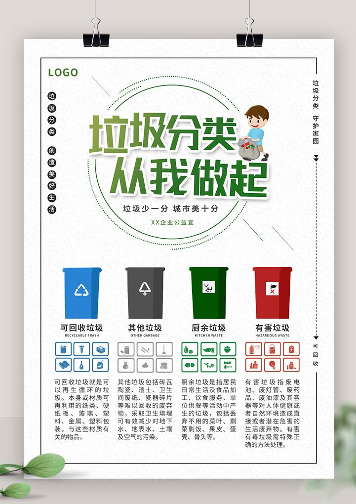 垃圾分类环保公益宣传单海报
