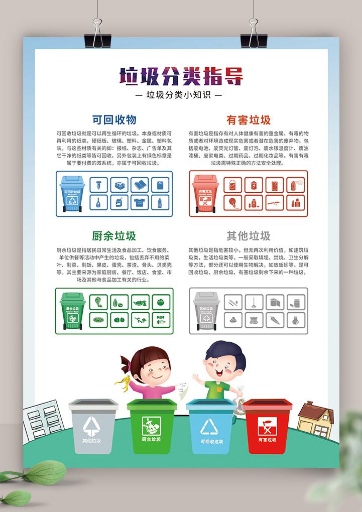 垃圾分类知识环保公益宣传单海报