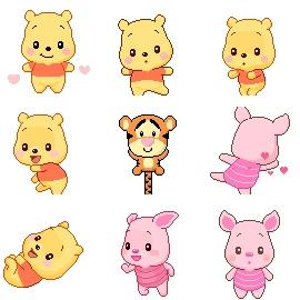 韩国维尼熊+小猪+跳跳虎2