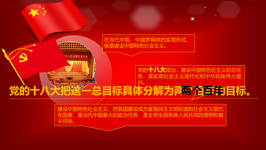 中国梦党政宣传PPT模板