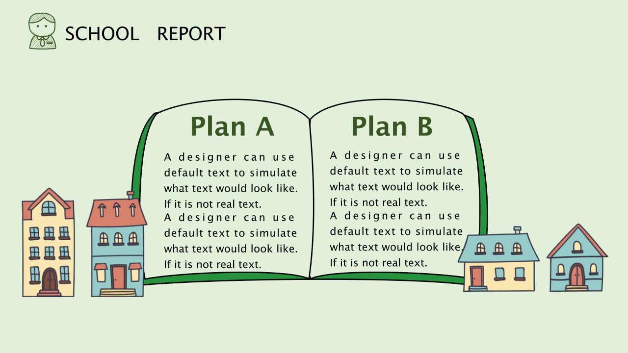 清新绿植卡通校园报告PPT模板