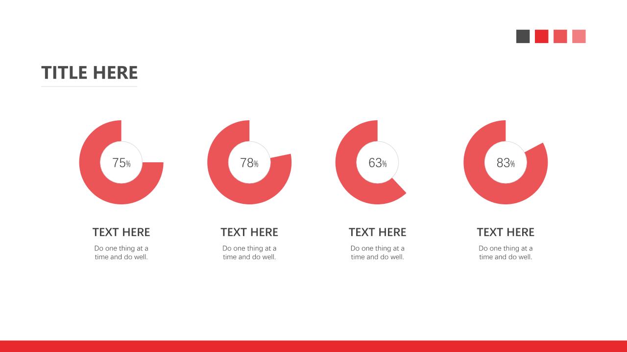 极简红色商务模板