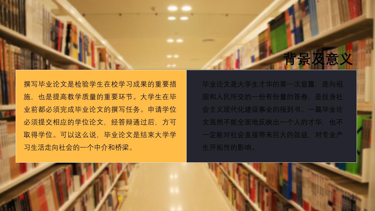 图书馆毕业论文PPT模板