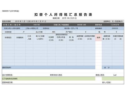 企业报税总表