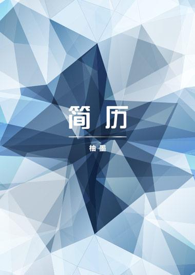 蓝色钻石简洁办公简历模板