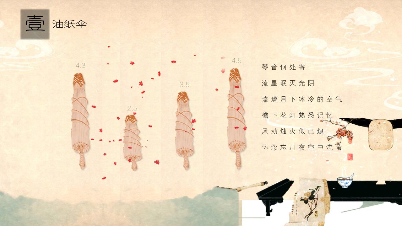 中国风黄色复古ppt模板